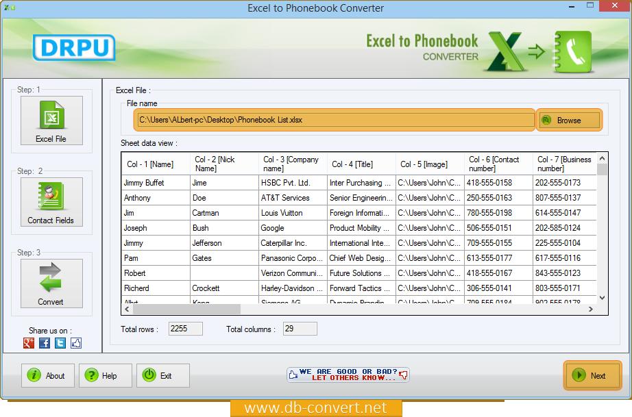Excel to Phonebook Converter migrate contacts into phonebook
